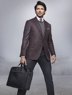 Andres Velencoso Segura Dons Elegant Styles for Corneliani Fall/Winter 2014 Look Book image avs corneliani004