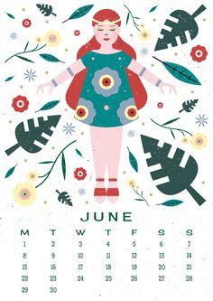 Carly Watts Art & Illustration: Free Printable: June Calendar
