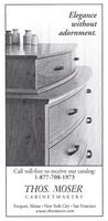 Thos. Moser Cabinets 2001 Ad Picture