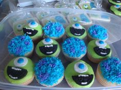 Monsters Inc. cupcakes.