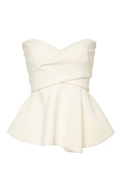 Derek Lam 10 Crosby - Soft White Strapless Corset with Metallic Bands