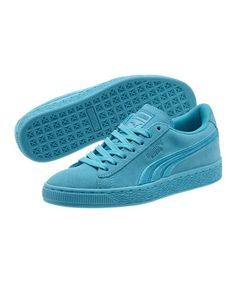 Blue Atoll Classic Badge Suede Sneaker - Boys #