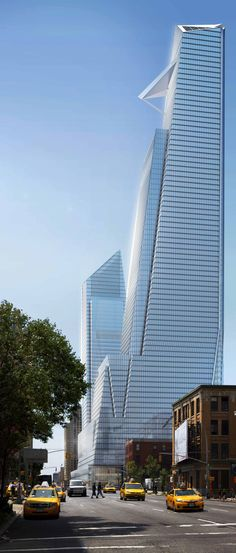 30 Hudson Yards, 500 West 33rd Street, former North Tower, Hudson Yards Development, 10th Avenue-33rd Street, New York City by KPF Architects :: 80 floors, height 374m, office tower :: Under Construction
