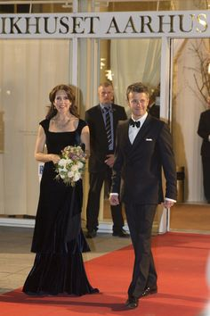 Crown Princess Mary and Crown Prince Frederik leaving Wednesday's event.