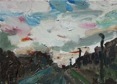 New Blood Art | Sky and Street by Pete Bennett | Buy Original Art Online | Artworks by Emerging Artists for Sale