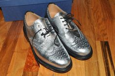Mark Mcnairy - Leather Oxford Wingtips (Sliver with Black)