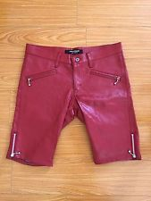 Junya Watanabe Comme des Garcons Red Leather Shorts Punk Undercover