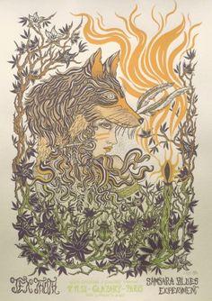 Jex Thoth Sérigraphie deux couleurs dont une dégradée sur papier doré nacré 180g, 81 exemplaires