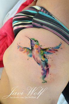 Watercolor Hummingbird  Watercolor Hummingbird Tattoo