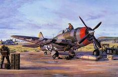 Ww2 Aircraft Art | ... P47 Thunderblt, Fighter, P47, Republic, Thunderbolt, USAF, War, WW2