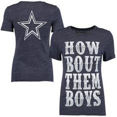 Dallas Cowboys Women s Western Tri-Blend T-Shirt - Navy 649775574