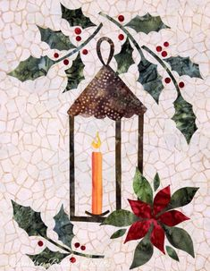 Laundry Basket Quilts - Seasonal Silhouettes Block #12 December by theresa
