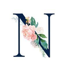 Buchstabe - Letter N a letra Monogram Wallpaper, Alphabet Wallpaper, Name Wallpaper, Flower Wallpaper, Wallpaper Backgrounds, Iphone Wallpaper, Alphabet Design, Alphabet Art, Letter Art