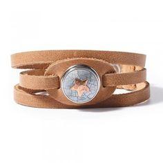Noosa WATER NYMPHS Armband bracelet ohne Chunk natural braun