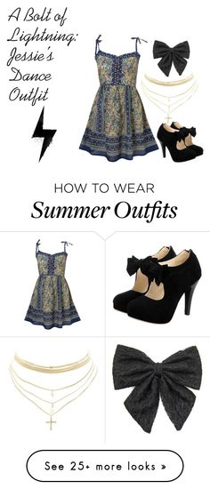 """A Bolt of Lightning: Jessie's Dance Outfit"" by karmasucks on Polyvore featuring Gypsy, Charlotte Russe and Carole"