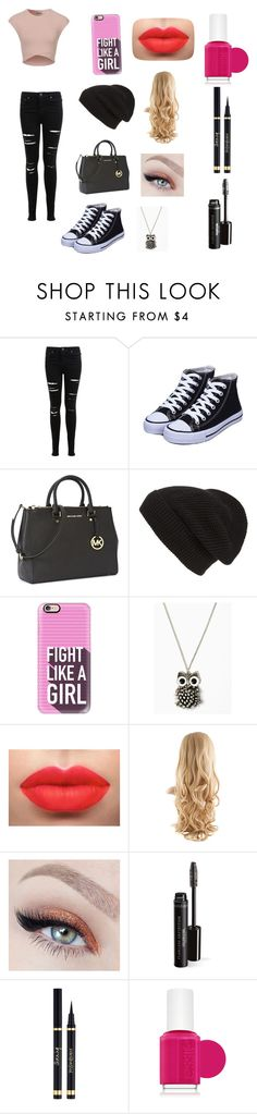 """""""This is my style ❤️"""" by michelle-martinez890 on Polyvore featuring Miss Selfridge, Michael Kors, Phase 3, Casetify, Yves Saint Laurent and Essie"""