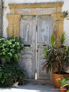 Entryway in Sapsila, Island of Patmos, Greece