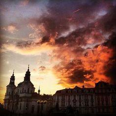 Sunset in Prague!