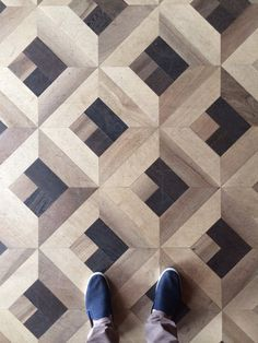 "Fun, modern parquet flooring with awesome aged-looking wood. ""LGLimitlessDesign The Grand Hotel Tremezzo"
