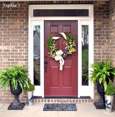 Spring Front Porch and Wreath Project