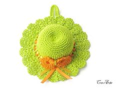 Crochet Pincushion Green Pincushion Handmade by CreArtebyPatty