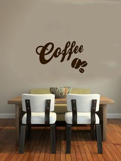 Coffee Bean Logo Sign Wall Vinyl Decal Art Murals Design Interior Modern Cafe Dining Room Kitchen Coffee Shop Decor Sticker SV4686