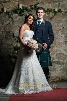 Glencorse House wedding photos - Lauren and Wayne - the newly-weds