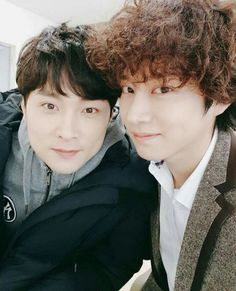 Every second both of them can make my heart beat stop. Kim Heechul, Eunhyuk, Donghae, Siwon, Super Junior Leeteuk, Asian Eyes, Most Handsome Men, Kpop, Kim Min