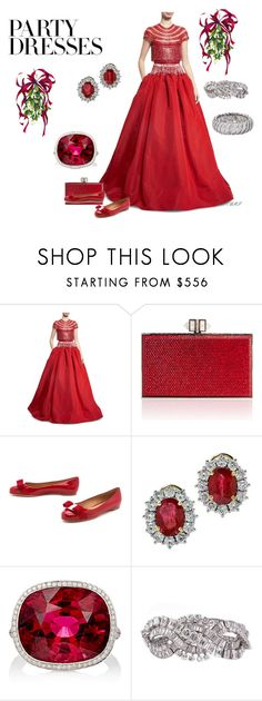 """Party Dresses III"" by meesh57 on Polyvore featuring Naeem Khan, Judith Leiber, Salvatore Ferragamo and MUNNU The Gem Palace"