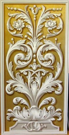 Ornaments tattoo artists in virginia - Tattoos And Body Art Motif Arabesque, Grisaille, Carving Designs, Architectural Elements, Door Design, Wood Carving, Baroque, Painted Furniture, Art Decor