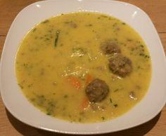 Rezept Kohlrabicremesuppe mit Fleischbällchen von Pelma - Rezept der Kategorie Suppen
