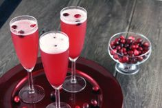 cranberry pomegranate spritzers...um yes! --need to make this my holiday drink!