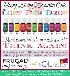 Wondering how to purchase essential oils on a budget? These tips will help you figure out how to purchase quality essential oils on a budget. Essential Oil Starter Kit, My Essential Oils, Young Living Essential Oils, Living Essentials, Healthy Oils, Young Living Oils, Drop, Yl Oils, 5 Cents