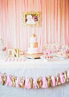 décoration d'anniversaire pour fille : 1 an