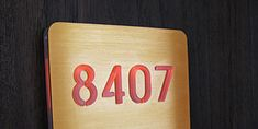 led house number and room number signage illuminated led signage