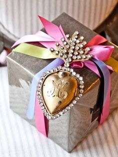 embellished gift wrapping - Google Search