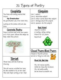25 Types Of Poetry (Part 2)