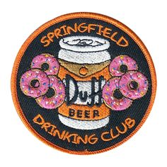Join the Springfield elite! Burp your way into moes and join the club! Limited run! Duff Beer, Beer Club, Patch Shop, Cool Patches, Take My Money, The Duff, Porsche Logo, Lapel Pins, Funeral