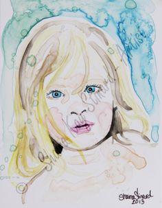 Cutom Watercolor Child Portraits 5 x 7 by PortraitsByShaina, $75.00   www.shainastinardartist.com