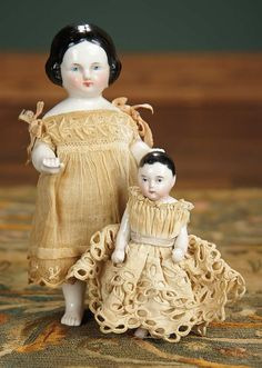 """""""For the Love of the Ladies"""" - October 1-2, 2016 in Phoenix, AZ: 90 Two German Porcelain Miniature Bathing Dolls"""