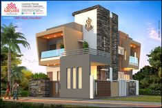 Modern Bungalow Exterior, Modern Exterior House Designs, Modern House Design, Modern Houses, Duplex House Design, Partition Design, Bedroom Furniture Design, House Elevation, Modern Architecture