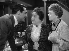 Arsenic and Old Lace (1944) Directed by Frank Capra. Starring Cary Grant, Josephine Hull, Jean Adair, Ramond Massey, Peter Lorre, Pricilla Lane and John Alexander.