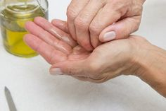 Homemade Cuticle Softener Recipe (with Pictures) Cuticle Remover Homemade, Cuticle Softener, Thick Toenails, Mary Kay Satin Hands, Dry Skin Remedies, Natural Remedies, Leaf Tv, Nail Cuticle, Hand Care