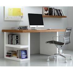 Brayden Studio Durkee Computer Desk Finish: Walnut / White