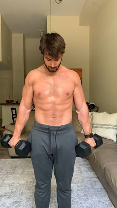 Back and biceps at home workout routine with dumbbells. Back and biceps at home workout routine with dumbbells. Fitness Workouts, Weight Training Workouts, Fitness Tips, Fitness Motivation, Bodybuilding Motivation Quotes, Fitness Models, Body Weight Training, Ab Workouts, Back And Bicep Workout