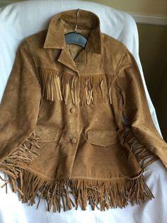 Marlboro Gear FRINGE Indian JACKET Suede Leather Cowgirl Hippie BOHO S, Chestnut #MarlboroGear #FringeIndianJacket