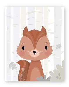 Set of 6 Woodland Nursery wall art Forest animals Forest Animals, Woodland Animals, Nursery Prints, Nursery Wall Art, Art Blanc, Art Carte, Adventure Nursery, Woodland Nursery, Forest Nursery