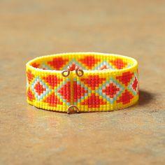 Neon Diamonds Beaded Bracelet by PuebloAndCo on Etsy, $14.99