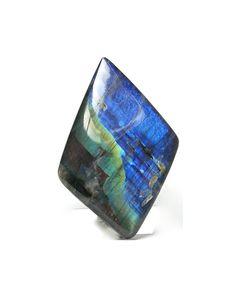 Finnish Labradorite Iridescent Spectrolite Rainbow Gem Feldspar Cabochon Strong Blue Flashes on Black Connoisseur's Select by FenderMinerals | Etsy