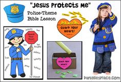 Jesus Rescues Me Sunday School Lesson with a Policeman theme from www.daniellesplace.com Free Sunday School Lessons, Sunday School Games, Sunday School Crafts, School Fun, Bible Crafts For Kids, Preschool Bible, Bible Lessons For Kids, Bible Games, Bible Activities